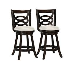 counter height chairs set of 2. Plain Counter Cappuccino Stained Counter Height Barstool With Leatherette Seat Set Of 2 Inside Chairs Set Of S