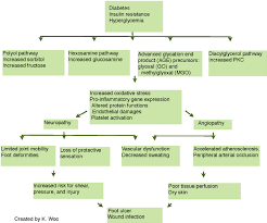 Diabetes Type 2 Pathophysiology Flow Chart Pathophysiology Of Diabetic Foot Ulcers Download