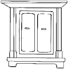 furniture clipart black and white. Brilliant Furniture Furniture Clipart Black And White To O