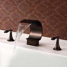 oil rubbed bronze bathroom faucet best home faucets deal what waterfall sink pertaining to new