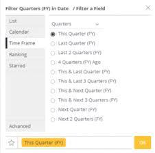Calendar Quarters Fiscal Years Sisense Documentation