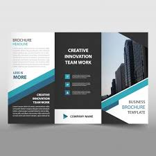Brochure Template Tri Fold Blue Trifold Business Flyer Template Vector Free Download