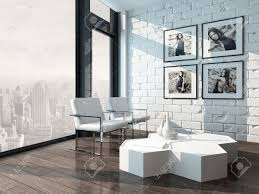 WALL ACCENT LIVING ROOMWhite Brick Wall Living Room