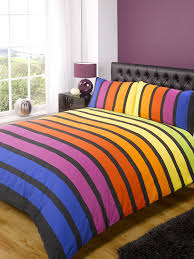 soho multi stripe duvet cover quilt bedding set yellow blue purple king size