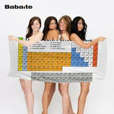 cool beach towel designs. Babaite Periodic Table Of The Elements Chemistry Mate Cool Beach Towel Bathroom Bath Shower Drying Washcloth Designs I