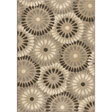 orian rugs plush circles springtime grey area rug