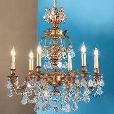 cau imperial 6 light chandelier crystal type swarovski elements finish aged pewter