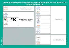 Elezioni Regionali Calabria - 26 gennaio 2020