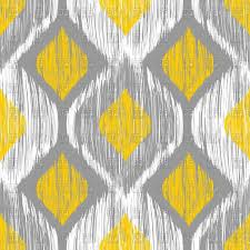Ikat ethnic seamless yellow and gray pattern Royalty Free Vector Clip Art