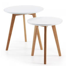 kirb set of 2 side tables round white kave home