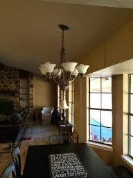 how to hang chandelier mounting a large light fixture to sloped ceiling good or bad idea how to hang chandelier