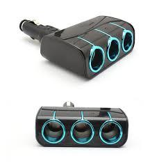 3 Way Light Socket Splitter New Arrival Car Cigarette Lighter 3 Way Auto Socket Splitter