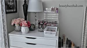 beautybuzzhub makeup room tour new filming setup ikea storage