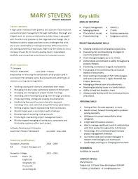 Project Manager Resumes Project Manager Template Construction