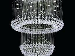 waterfall crystal chandelier by et2 designs