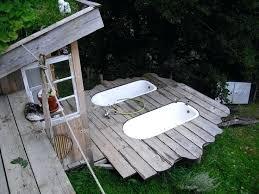 outdoor living in the rough shower bathtub bathtubs and luxury bath tub outdoor bath