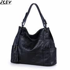 <b>ICEV 100</b>% cowhide handbag large capacity casual female big tote ...