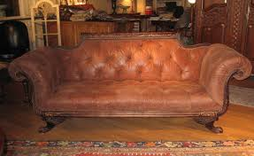 sofa couch loveseat duncan phyfe sofa tufted high quality leather