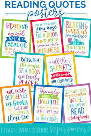 Reading Quotes Posters In School Brights School Ideas Reading