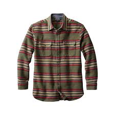 Pendleton Shirt Size Chart Pendleton Mens Blanket Stripe Plush Chamois Shirt