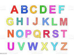 Childrens Multicolored Alphabet Abc ...