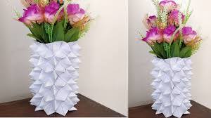 News Paper Flower Vase Diy Paper Flower Vase Magdalene Project Org