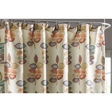 152033 croscill mosaic leaves fabric shower curtain