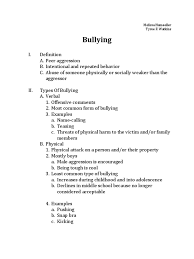 sample essay cause and effect co sample essay cause and effect bullying outline bullying sample essay cause and effect