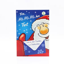 China Christmas Letter Music Card Business Xmas Card