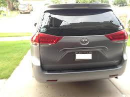 2013 Toyota Sienna Rear Window Exploded Outward: 2 Complaints