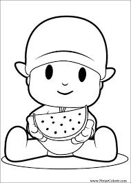 Small Picture Dibujos para pintar y Color Pocoyo Diseo de impresin 008