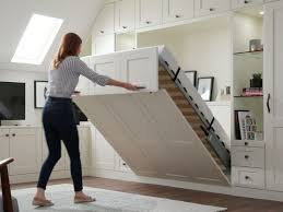 space saving wall beds pull down