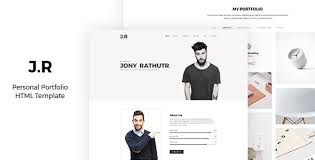 Portfolio Website Templates Interesting JR CV Portfolio Responsive Resume Personal CV Portfolio