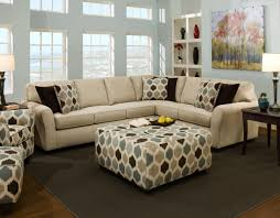 ... Coffee Table, Cozy White Coastal Fabric And Wood Square Ottoman Coffee  Table Design Ideas To ...