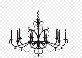 chandelier wall decal silhouette clip art chandelier
