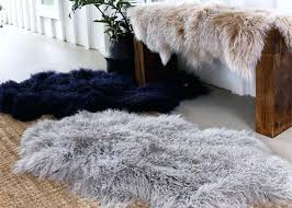 uch mongolian fur rug blush sheepskin sheeskin