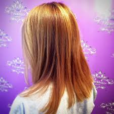 Copper Red Color With Golden Blonde