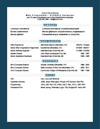 Resume Template Software Modern Resume Templates 64 Examples Free Download