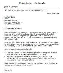 Sample Of Application Letter For Position Job Sample Hillaryrain Co