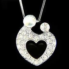mother love baby heart made with