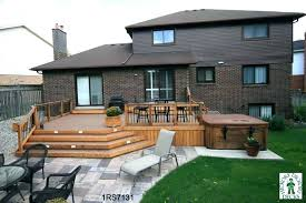 backyard deck design. Hot Tub Deck Plans Design Ideas With Backyard Designs .