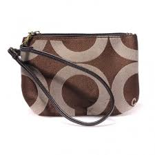 Coach Legacy In Signature Small Coffee Wristlets AHS