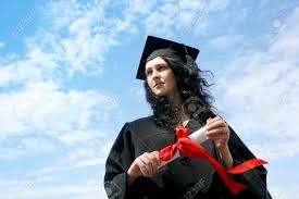 happy graduate student in cloak diploma stock photo picture  happy graduate student in cloak diploma stock photo 10613759