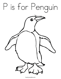 Small Picture P is for Penguin Coloring Page Twisty Noodle