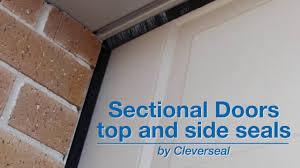 sectional garage door top and side seals