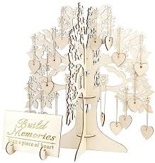 Guest Sign Book Generic Wooden 3d Wedding Wishing Tree Set Party Guest Sign Book