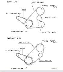 2001 Mitsubishi Mirage 1.8L Serpentine Belt Diagram ...
