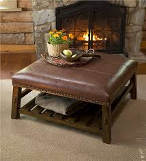 canyon leather coffee table accent tables authentic ottoman precious 3