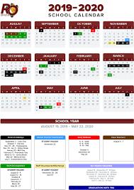 Annual School Calendar Annual Calendar