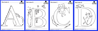 Free a z alphabet coloring pages to print for kids. Alphabet Animal Coloring Pages Download
